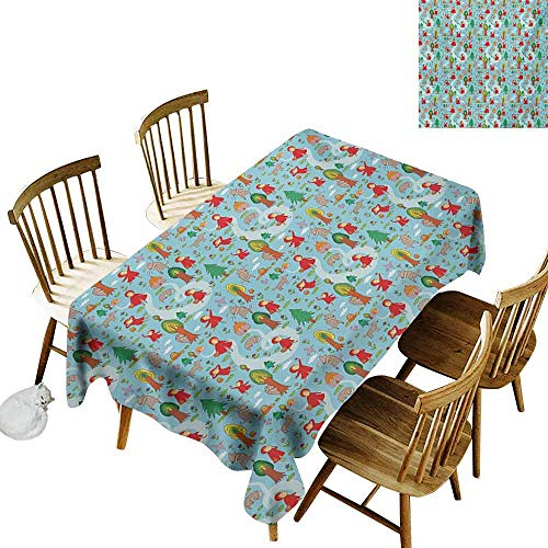 Mannwarehouse Fantasy Oil-Proof and Leak-Proof Tablecloth Red Riding