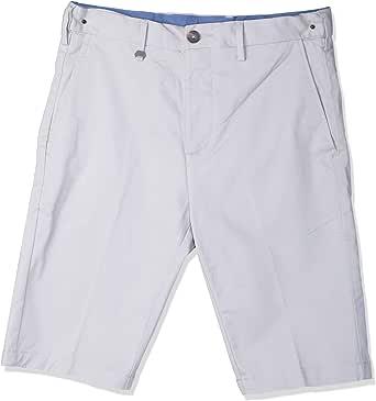 Cotton Flat Front Short for Men, Size 30 EU, Silver