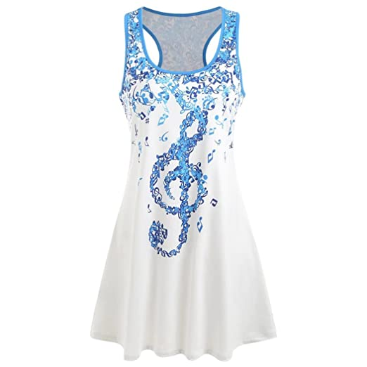 a59fe571 Image Unavailable. Image not available for. Color: Lookatool 2018 Fashion  Tops, Women Ladies Musical Sleeveless Casual Vest Tank