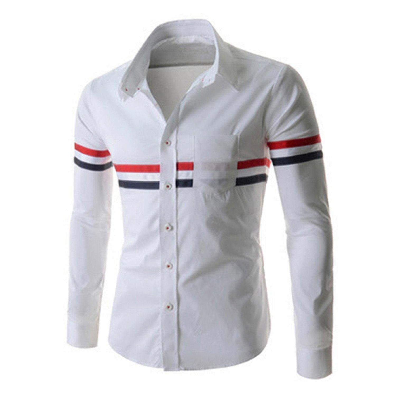 KEBINAI IMC Hot NEW Long sleeve shirt shirts for men Male Shirts Fashion Silm Casual clothes Ribbon decoration European Style