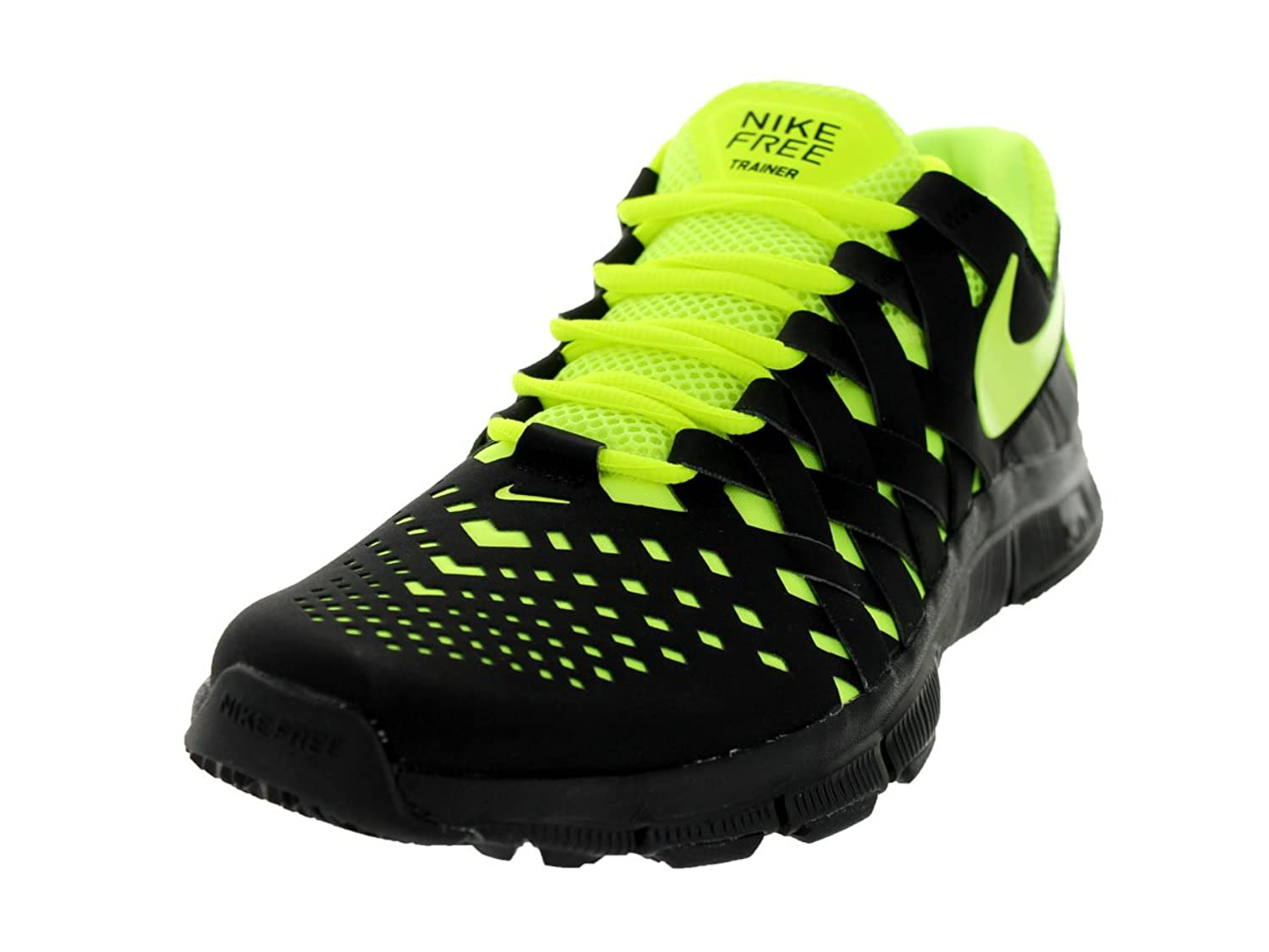 66d7bf466c3 nike free trainer 5.0 mens running trainers 579809 002 sneakers shoes black  volt (uk 8.5 us 9.5 eu 43)  Amazon.co.uk  Shoes   Bags