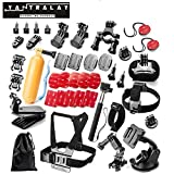 Yantralay 40 in 1 Outdoor Sports Accessory Kit for Gopro Hero 5 4 3+ 3 2 1, SJCAM SJ4000 SJ5000, Yi & Other Action Cameras (41 Items)