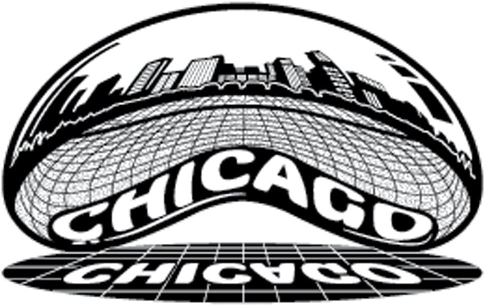 Chicago Skyline Sticker | Reflective Chrome Mirror Shiny Decal | Chicago Bean View | Apply to Mug Phone Laptop Water Bottle Decal Cooler Bumper | Cloud Gate Millennium Park Windy City Flag Sports 312