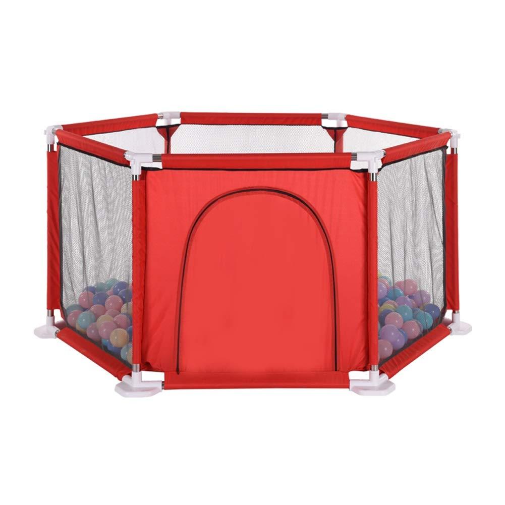 ベビーフェンス 200ボールのボール、屋内屋外のための携帯用赤の安全遊び場活動センターが付いている六角形の赤ん坊のベビーサークルの遊び場 (Color : Playpen)  Playpen B07TWTJRT2