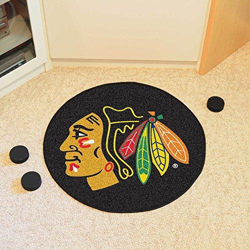 Coir Nhl Door Mat - Fanmats Chicago Blackhawks Puck Mat