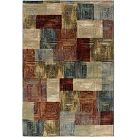 Surya NAP1031-2747 Napa Area Rug, 2 7 x 4 7, Dark Green/Navy/Dark Red/Black/Dark Brown
