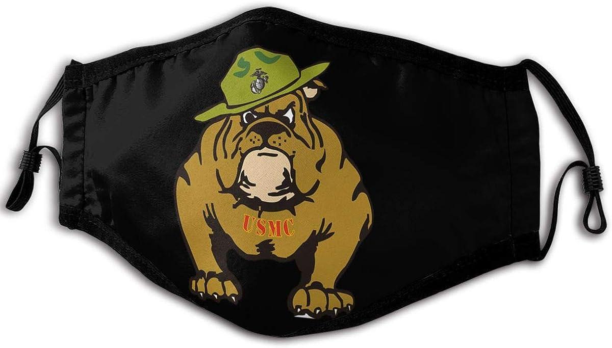 Marine Corps Bulldog USMC Logo Outdoor Mask, Anti-Dust Suitable Windproof Adult Men Women Bandana