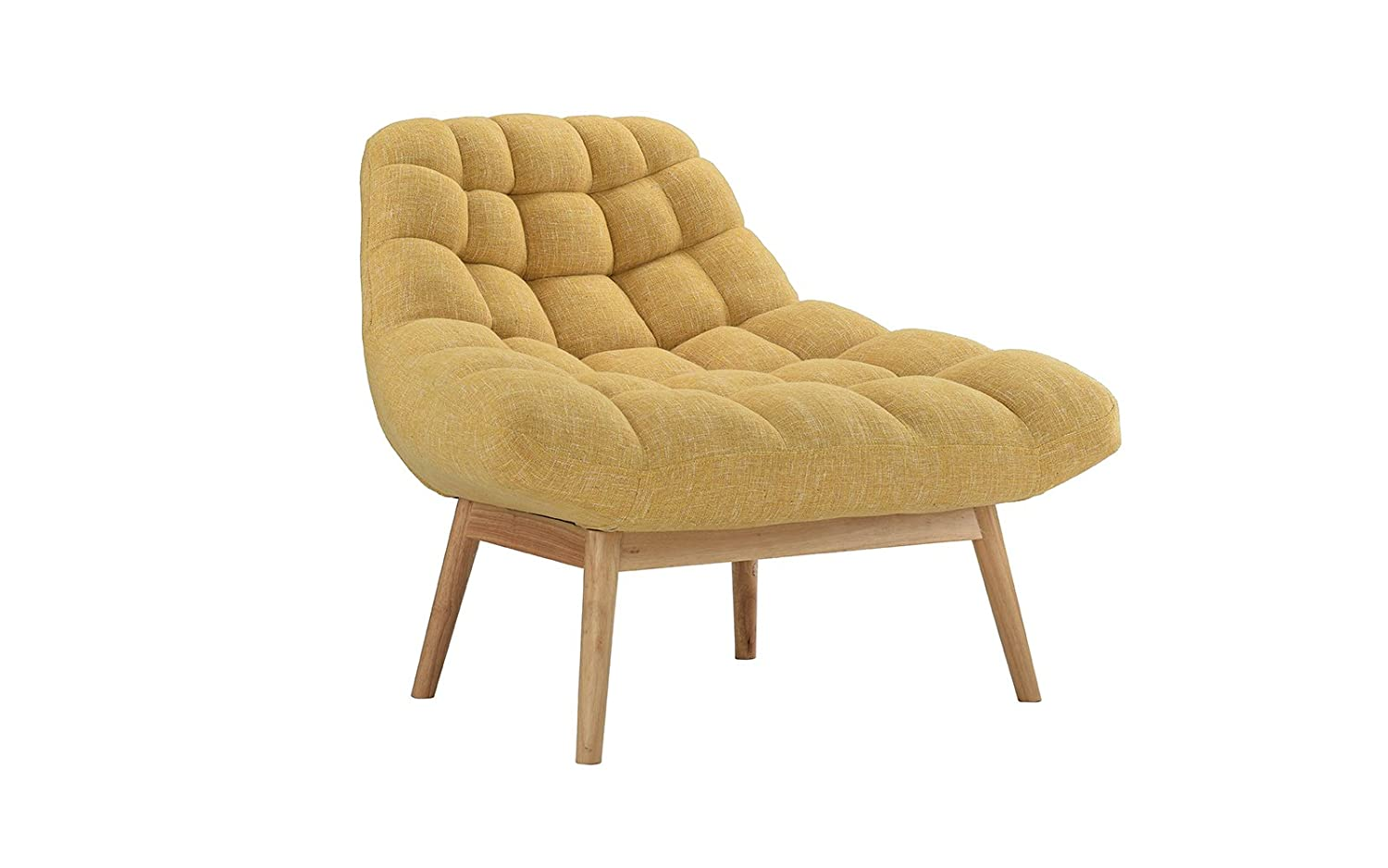 Amazon.com: Modern Linen Plush Living Room Lounge Accent Chair (Yellow): Kitchen & Dining