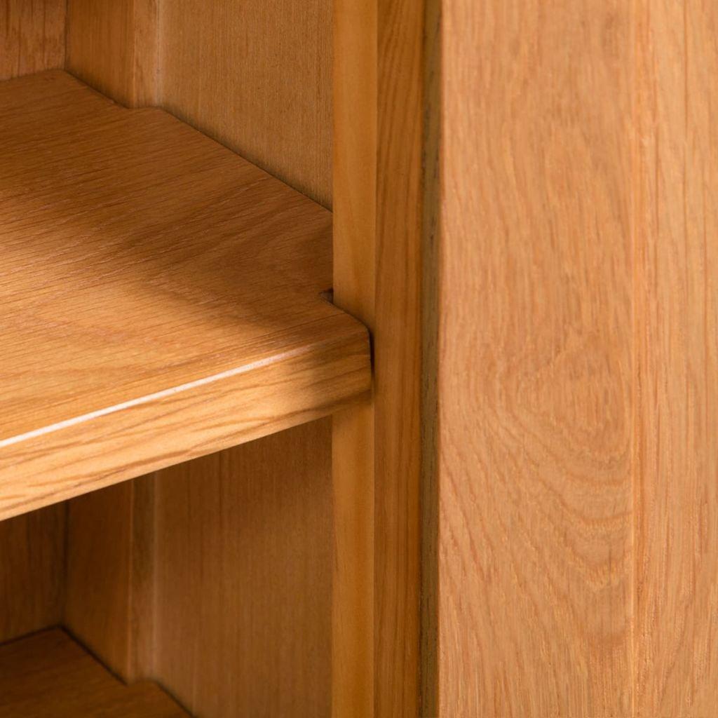 yorten Storage Cabinet With 6 Storage Shelves 50x22x122 cm Solid Oak Wood