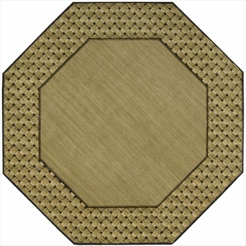 Nourison Vallencierre (VA14) Beige Octagon Area Rug, 5-Feet 6-Inches by 5-Feet 6-Inches (5'6