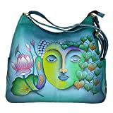 Charmeine Women's Leather Shoulder Bag Painted 38 cm x 33 cm x 12 cm Multi Color