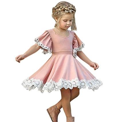 Vestido de Niña, ❤ Amlaiworld Ropa bebé Niña Vestido de Fiesta Floral de Encaje