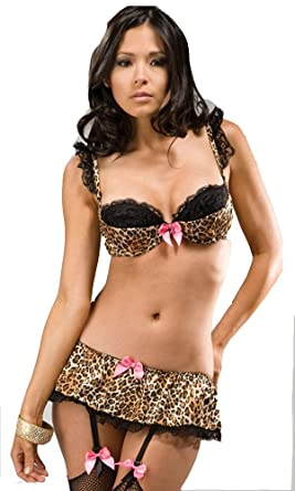 57f7bfdc17c74 Image Unavailable. Image not available for. Color  Unleashed - Animal Print  Lingerie By Forplay ...