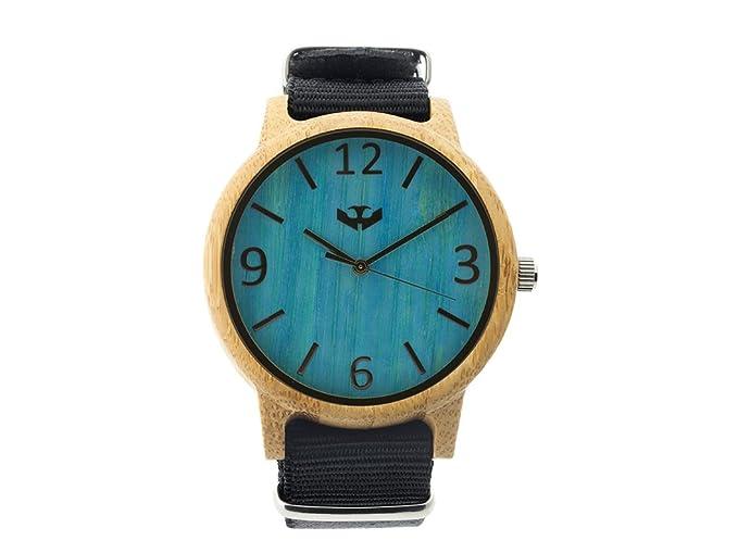 Reloj de Madera Mosca Negra Modelo SLOWOOD Macao 11 Correa Nylon Negra - Wood Watch Premium