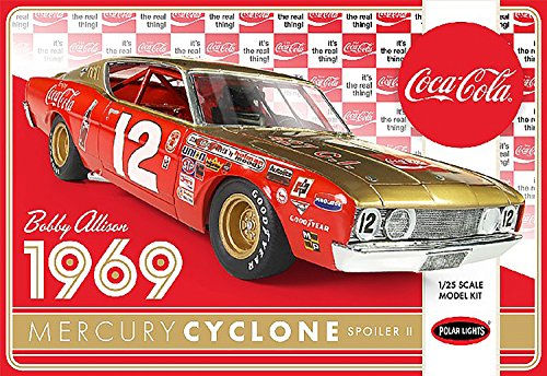 - Polar Lights POL948 1:25 Bobby Alison 1969 'Coca Cola' Mercury Cyclone, Scale