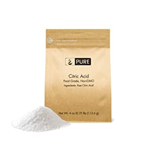 Citric Acid (4 oz) by Pure Organic Ingredients, Eco-Friendly Packaging, All-Natural, Highest Quality, Pure, Food Grade, Non-GMO