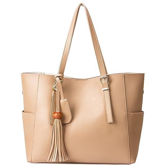 Amazon.com: SIFINI Women Casual Handbag Simple Shoulder Bag Tote ...