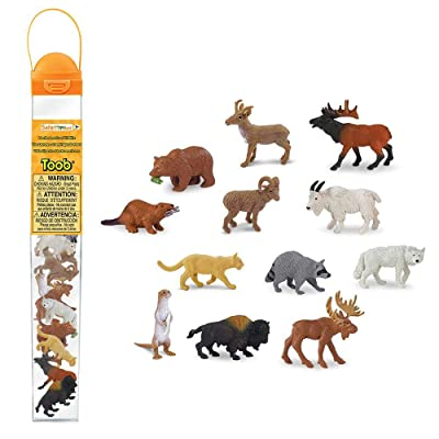 Safari Ltd. Wild Safari North American Wildlife TOOB With 12 Favorite Animal Toy Figurines: Toys & Games