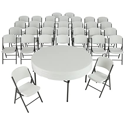 Amazon Com Lifetime 4 60 Inch Round Folding Tables With 32