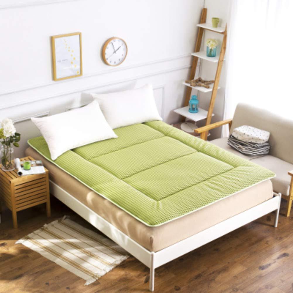 F 120x200x5cm(47x79x2inch) Japanese Tatami futon Mattress, Foldable Bed Mattress Topper Queen Double Soft Sleeping pad Non-Slip mats Roll up Memory Foam -F 120x200x5cm(47x79x2inch)