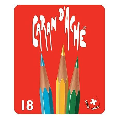 Caran dAche - Caja metálica Red Line 18 Lápices Surtidos Caran DAche