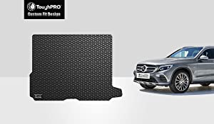 TOUGHPRO Cargo/Trunk Mat Accessories Compatible with Mercedes-Benz GLC - All Weather - Heavy Duty - (Made in USA) - Black Rubber - 2016, 2017, 2018, 2019, 2020