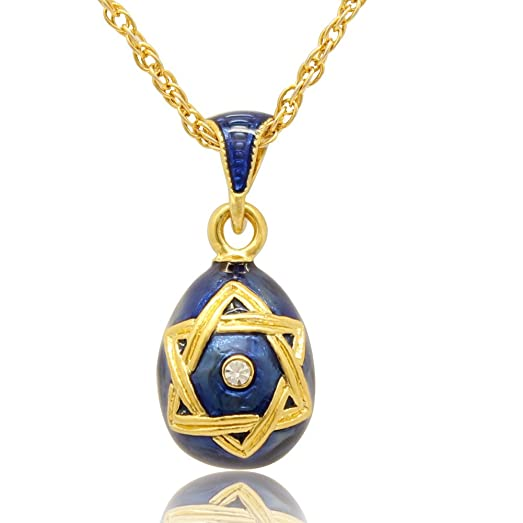 Amazon myd jewelry cute girls star of david russian faberge myd jewelry cute girls star of david russian faberge egg pendant necklace blue aloadofball Images