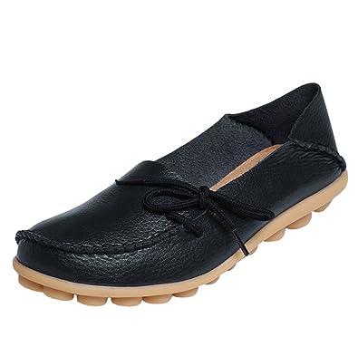 Yuncai Freizeit Einfach Mutter Schuhe Weich Atmungsaktiv Gemütlich Damen Flache Erbsen Schuhe Blau 43 WxuQI7S