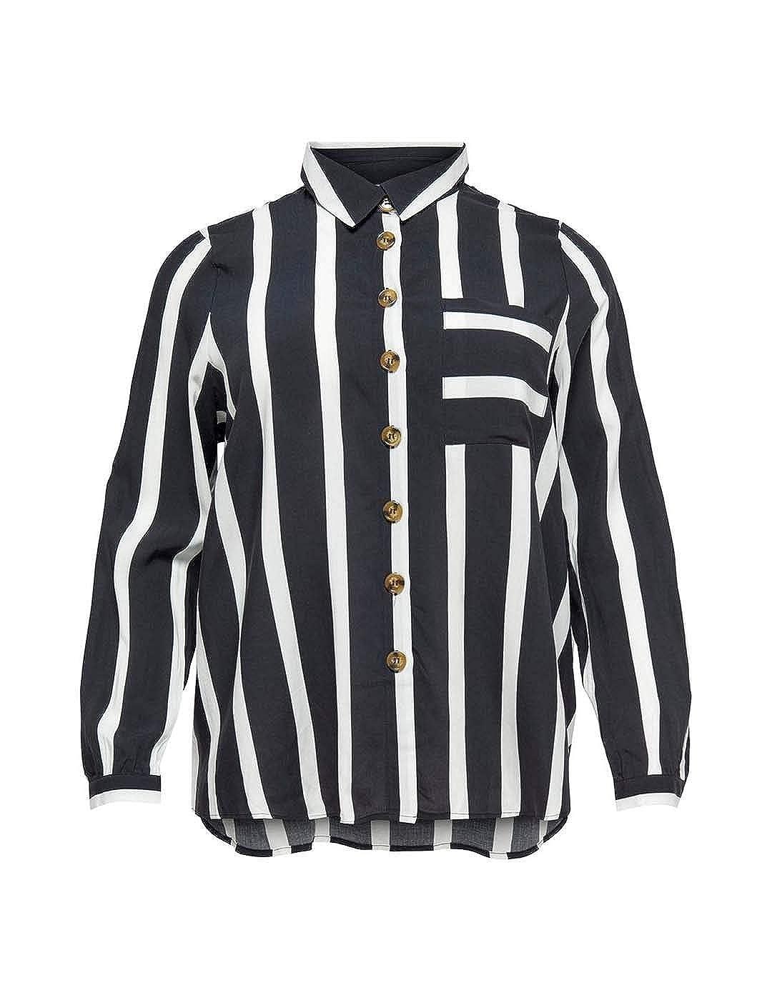 ONLY Carmakoma Daucus Langarmhemd Langarmhemd Langarmhemd Damen, 48, schwarz weiß B07MZ3TMBM Blausen & Tuniken Erste Gruppe von Kunden 5ee03a