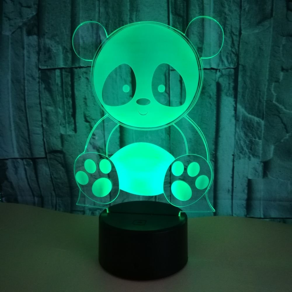 Abaya パンダ 3Dテーブルランプ タッチベッドサイドランプ 7色変化 Abaya モダンデスクランプ 誕生日 ホリデー ホリデー 動物愛好家への最高のギフト パンダ B07GQLQBY8, 京都府:2827b65e --- ijpba.info