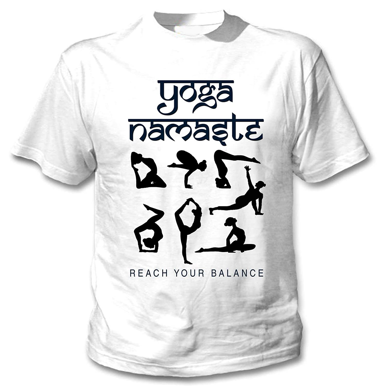teesquare1st Yoga Namaste 8 Camiseta Blanca para Hombre de ...