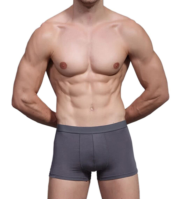 Hoerev Mens Bamboo Fibre Boxer Shorts Trunks Underwear Pack of 4