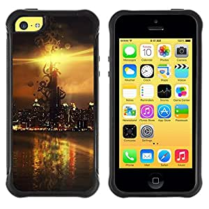 "Hypernova Defender Series TPU protection Cas Case Coque pour Apple iPhone 5C [Sunset Beautiful Nature 106""]"
