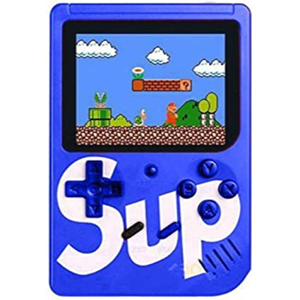 Lucria Sup Game400 in 1 Super Handheld Game Console, Classic Retro Video Game, Colourful LCD Screen, Portable, Best for Kids (Blue)