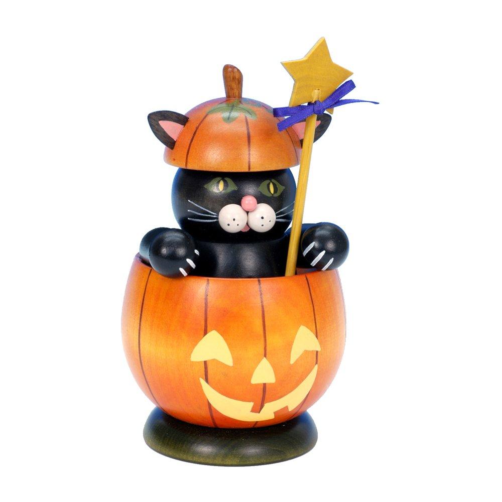 35-485 - Christian Ulbricht Incense Burner Cat - 6.75''''H x 4''''W x 4''''D