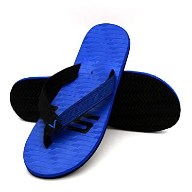 top style matching in colour most reliable Svaar Men Blue Flipflop