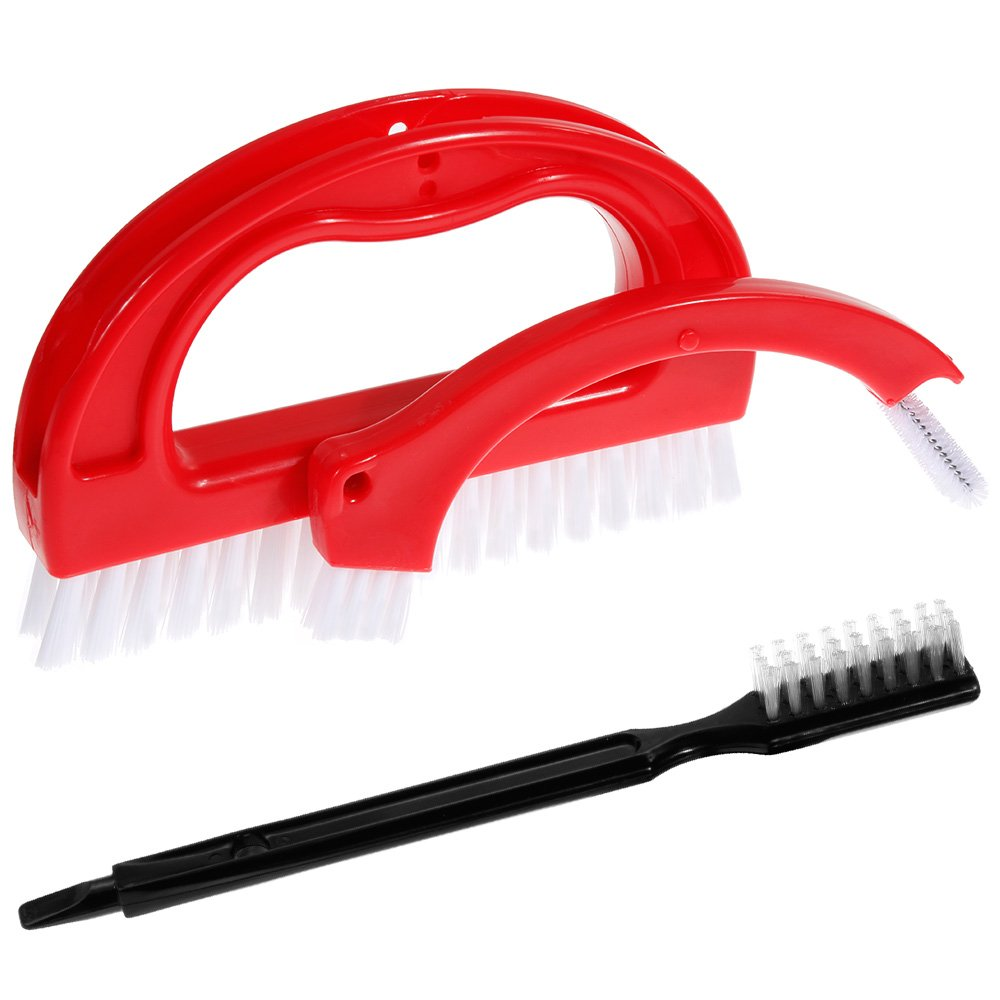 Tile Joint Brush Scrubber Brush - Nabance Kitchen Cleaning Brush 3 in 1 Cleaning Tile Brush Multifunctional Grout Cleaning Tile Brush for Kitchen and Bathroom