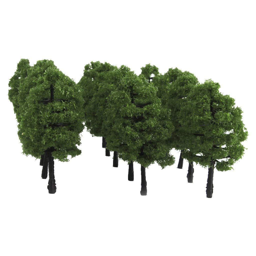 Plastica modello alberi Spur paesaggio 1 100/20/pezzi verde scuro