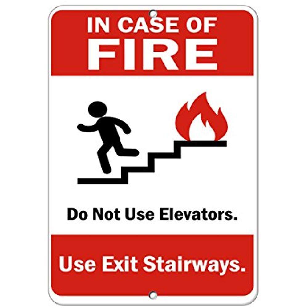 en caso de incendio, no utilizar elevadores. Usa escaleras ...