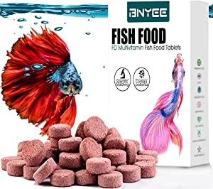 Tablet Fish Food - Attaches to Side of Tank Fish Food for Bettas Gouramis Guppies Neon Cardinal Catfish or Other Small Tropical Freshwater Fish (Brine Shrimp)
