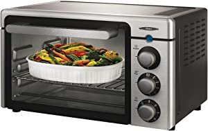 Oster 6085 Channel 6-Slice Toaster Oven, Brushed Stainless Steel