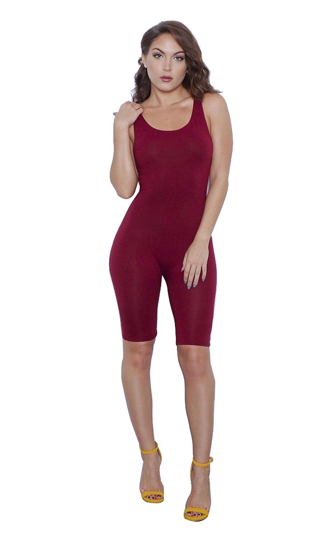 62a1947de8 Amazon.com  Moxeay O-Neck One Piece Bodysuit Sleeveless Bodycon Rompers  Overall  Clothing