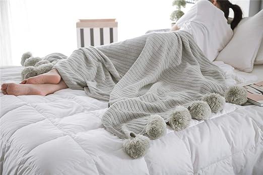 Kai&Guo 100% algodón, Impresos portátiles, Mantas para Camas Xadrez, Sirena, Manta, Nueva Primavera, Manta de algodón, Funda de sofá, Gris, 90 x 90 cm: Amazon.es: Hogar
