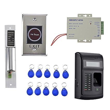 D DOLITY Timbre de Puerta Cerradura con 10 teclas RFID 1000 usuarios Huella digital Tarjeta RFID