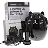 Greenair Creature Comforts Kids Essential Oil Aroma Diffuser & Humidifier (Mimi the Black Cat) #529