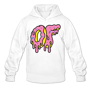 280622ab787e87 Caili Men s Ofwgkta Odd Future OF Donut Logo Hoodies Sweatshirts M White