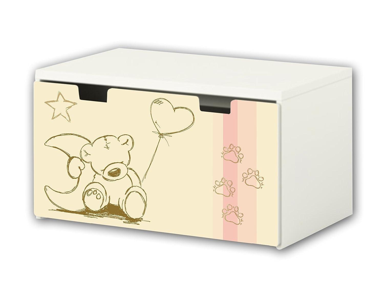 Cuddly World Furniture Film | BT10 | Furniture sticker with butterfly Motive | matching to the children's storage bench STUVA of IKEA (90 x 50 cm) Furniture Not Included | STIKKIPIX STIKKIPIX®