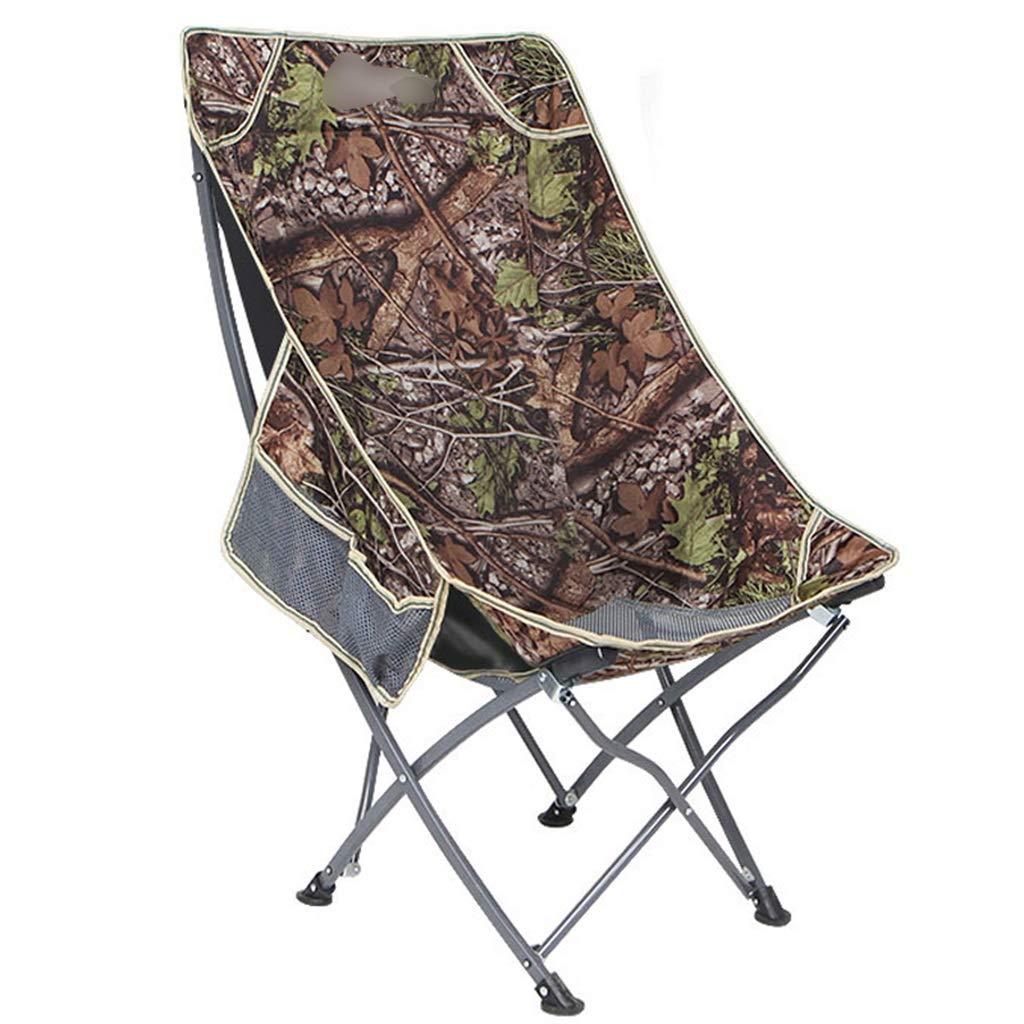 YaNanHome Klappstuhl Freizeit Recliner Outdoor Portable Klapp Rückenlehne Stuhl Mittagspause Stuhl Mond Stuhl (Farbe   Grün, Größe   93  55  53cm) braun 935553cm