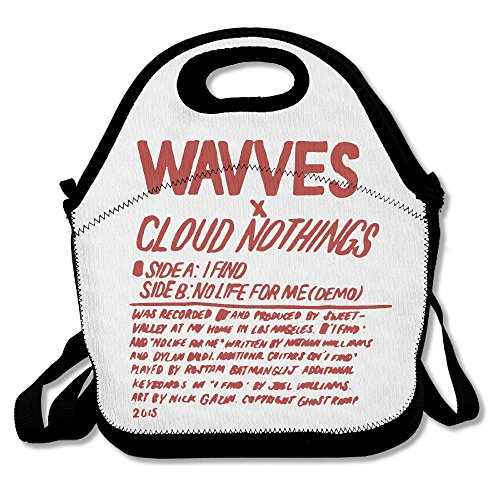 Nathans Snack - 100% Polyester Cloud Nothings Wavves Multifunction Reusable Snack Bag Handbag Lunch Tote