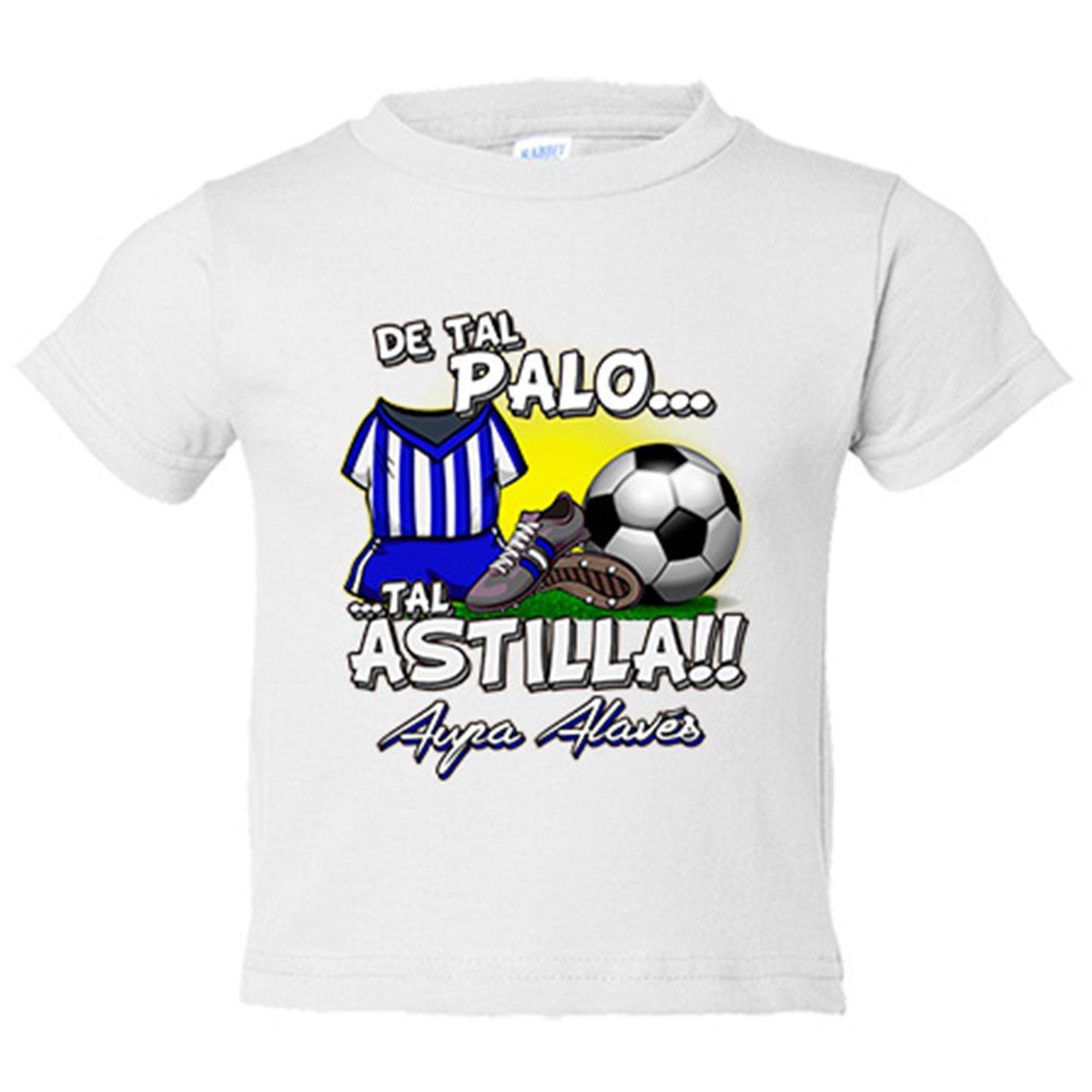 Camiseta niño De tal palo tal astilla Alaves fútbol - Azul Royal, 3-4 años: Amazon.es: Bebé